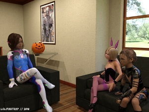 Rating: Questionable Score: 9 Tags: 10s 2018 3dcg 3girls amber_(3du) animal_ears blonde_hair bodysuit brown_hair bunny_ears bunny_girl couch d.va_(overwatch)_(cosplay) fishnet_pantyhose fishnets g-string halloween halloween_costume high_heels leotard lolifiedtrap multiple_girls original photorealistic realistic self_upload sitting tagme thighhighs User: lolifiedtrap
