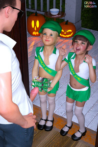 Rating: Explicit Score: 42 Tags: 1boy 2girls 3dcg age_difference bangs beret blonde_hair blue_eyes blunt_bangs brown_hair english flat_chest girl_scout halloween hat looking_at_partner mary_janes multiple_girls navel necklace open_mouth penis photorealistic poki pumpkin shoes skirt smile standing sunglasses thighhighs tongue trick_or_treat zettai_ryouiki User: fantasy-lover