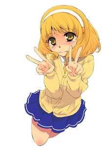 Rating: Safe Score: 0 Tags: 1girl bangs blonde_hair blue_skirt blunt_bangs cardigan double_v hairband headband kise_yayoi nanairogaoka_middle_school_uniform necktie precure school_uniform simple_background skirt smile_precure! solo tears v white_background white_hairband yuu_(kfc) User: DMSchmidt