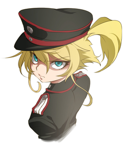 Rating: Safe Score: 0 Tags: 1girl bangs black_hat black_jacket blonde_hair blue_eyes cropped_torso epaulettes funnyari glaring hat jacket looking_at_viewer looking_back military military_hat military_uniform peaked_cap ponytail portrait short_hair short_ponytail simple_background solo standing tanya_degurechaff uniform white_background youjo_senki User: DMSchmidt