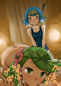 Rating: Explicit Score: 2 Tags: 1boy 2girls :>= @_@ absurdres ac_butsupa backlighting bangs bare_arms bare_shoulders bent_over blue_hair blush breath brown_skin closed_mouth collarbone embarrassed eyebrows_visible_through_hair fellatio flower foreshortening green_eyes green_hair hair_flower hair_ornament hairband hairy_legs hands_on_another's_thighs hetero highres indoors kneeling leaning_forward looking_at_viewer mao_(pokemon) multiple_girls nose_blush npc_trainer nude one-piece_swimsuit oral out-of-frame_censoring pokemon pokemon_(game) pokemon_sm short_hair sound_effects spread_legs standing suiren_(pokemon) sweat swept_bangs swimsuit trembling trial_captain twin_tails upper_body wavy_mouth User: DMSchmidt