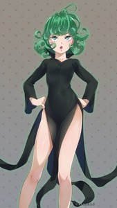 Rating: Safe Score: 2 Tags: 1girl absurdres artist_name black_dress coloured contrapposto covered_navel curly_hair dress flipped_hair gaston18 green_eyes green_hair hands_on_hips highres murata_yuusuke one-punch_man open_mouth pelvic_curtain pink_lips short_hair side_slit solo tatsumaki User: DMSchmidt