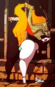 Rating: Questionable Score: 7 Tags: 1girl animated aqua_panties ass_grab diives gif midna pantsu prehensile_hair red_eyes signature the_legend_of_zelda the_legend_of_zelda:_twilight_princess thick_thighs thighs two-tone_skin underwear User: Domestic_Importer