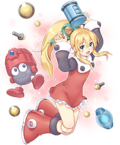 Rating: Safe Score: 2 Tags: 1girl android blonde_hair bolt boots capcom eddie energy_tank green_eyes hair_ribbon highres joints knee_boots long_hair long_sleeves ponytail ribbon robot rockman rockman_(classic) roll skirt toshi wide_sleeves User: DMSchmidt