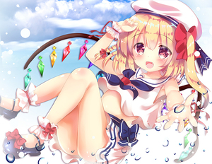 Rating: Safe Score: 1 Tags: 1girl :d ankle_cuffs arm_up bangs bare_shoulders beret black_footwear blue_bow blue_sky blush bow braid cloud cloudy_sky crystal day eyebrows_visible_through_hair flandre_scarlet hair_between_eyes hair_bow hat long_hair mary_janes one_side_up open_mouth outdoors outstretched_arm pleated_skirt red_bow red_eyes rikatan school_uniform serafuku shirt shoes skirt sky sleeveless sleeveless_shirt smile solo touhou_project white_hat white_shirt white_skirt wings wrist_cuffs User: DMSchmidt