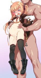 Rating: Explicit Score: 9 Tags: 10s 1boy 1girl ahoge amazon_(azur_lane) anchor azur_lane belly black_gloves black_legwear blonde_hair blue_eyes blush boots bottomless breasts clothed_female_nude_male collarbone cum cum_in_pussy cum_inflation faceless faceless_male gloves gradient gradient_background hair_ornament harigane_shinshi held_up hetero highres inflation long_hair navel nipples nose_blush nude open_clothes open_mouth saliva sex shiny shiny_skin simple_background small_breasts standing sweat tears thighhighs twin_tails vaginal white_background User: Domestic_Importer