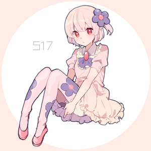 Rating: Safe Score: 1 Tags: 1girl ascot bangs blue_outline blush brooch closed_mouth dress eyebrows_visible_through_hair flat_chest floral_print flower full_body gem gen_5_pokemon hair_flower hair_ornament ikeuchi_tanuma jewellery knees_up looking_at_viewer munna number outline pantyhose personification pink_dress pink_hair pink_legwear pokemon pokemon_number puffy_short_sleeves puffy_sleeves purple_flower purple_neckwear red_eyes red_footwear shiny shiny_hair shoes short_hair short_sleeves simple_background sitting solo two-tone_background white_bloomers User: DMSchmidt