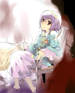 Rating: Safe Score: 0 Tags: 1girl chair komeiji_satori short_hair sitting slippers solo touhou_project yuu_(kfc) User: DMSchmidt