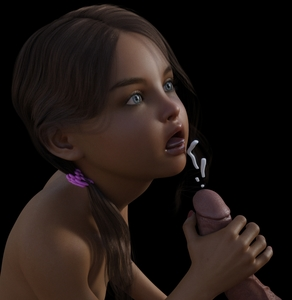 Rating: Explicit Score: 14 Tags: 1boy 1girl 3dcg age_difference blue_eyes brown_hair cum ejaculation handjob holding_penis long_hair looking_up nude penis photorealistic rape snake01 tongue User: fantasy-lover
