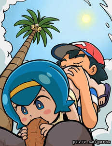 Rating: Explicit Score: 3 Tags: 1boy 1girl 69 age_difference alolan_exeggutor bangs black_hair black_pants blue_eyes blue_hair blue_sky blunt_bangs blush_stickers bottomless closed_eyes cloud cloudy_sky creatures_(company) cunnilingus fellatio flip-flops from_below game_freak garabato hairband hat hetero hou_(pokemon) looking_at_another looking_down nintendo open_mouth oral outdoors pants penis pokemon pokemon_(anime) pokemon_sm_(anime) red_hat sandals satoshi_(pokemon) shirt sitting sky striped striped_shirt sun tank_top uncensored watermark web_address User: Domestic_Importer