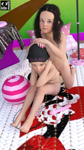 Rating: Questionable Score: 13 Tags: 2girls 3dcg ball black_hair black_hat closed_mouth flat_chest forehead from_above full_body heart_pillow k0smos long_hair looking_up multiple_girls nail_polish nipples nude original photorealistic piercing polka_dot polka_dot_pillow sex_toy sitting smile User: Domestic_Importer