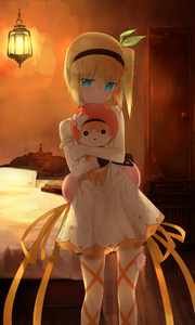 Rating: Safe Score: 0 Tags: 1girl akitaka_(pixiv12739753) bare_shoulders bed black_hairband blonde_hair blue_eyes blush book doll dress edna_(tales) flower gloves green_ribbon hair_ornament hair_ribbon hairband highres holding indoors looking_at_viewer one_side_up ribbon short_hair side_ponytail solo tales_of_(series) tales_of_zestiria white_dress yellow_ribbon User: DMSchmidt