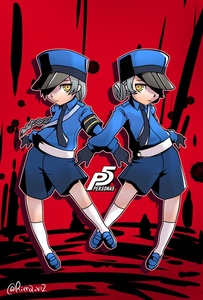Rating: Safe Score: 0 Tags: 2girls @riena caroline_(persona_5) highres justine_(persona_5) multiple_girls persona persona_5 siblings silver_hair sisters twins yellow_eyes User: DMSchmidt