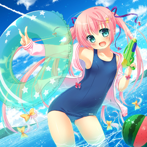 Rating: Questionable Score: 2 Tags: 1girl absurdres blue_eyes gun hanamiya_natsuka highres jacket long_hair one-piece_swimsuit open_clothes open_jacket open_shirt original pink_hair school_swimsuit shirt solo swimsuit twin_tails water_gun weapon wet User: DMSchmidt