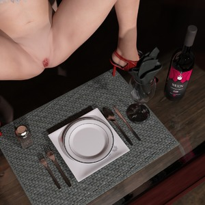 Rating: Explicit Score: 2 Tags: 3dcg blonde_hair blue_eyes bossy_2014 decensored functionally_nude high_heels looking_at_viewer on_table presenting presenting_pussy pussy spread_legs spread_pussy table tagme third-party_edit uncensored wine_bottle wine_glass User: Dampfnudel