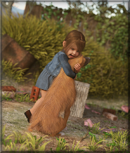 Rating: Safe Score: 2 Tags: 1girl 3dcg blurry denim denim_skirt dog dog_tail grass happy highres hug long_hair long_sleeves looking_at_viewer open_mouth original photorealistic plant rezure skirt tail User: Domestic_Importer