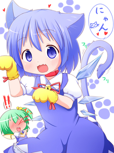 Rating: Safe Score: 1 Tags: !! 2girls :3 animal_ears bell blood blue_eyes blue_hair blush cat_ears cat_tail cirno collar collarbone daiyousei fairy_wings fang gloves green_hair hair_ribbon heart highres ice ice_wings kemonomimi_mode looking_at_viewer makuran multiple_girls nosebleed open_mouth paw_gloves paw_print puffy_sleeves ribbon short_hair short_sleeves side_ponytail tail team_shanghai_alice touhou_project wings User: DMSchmidt