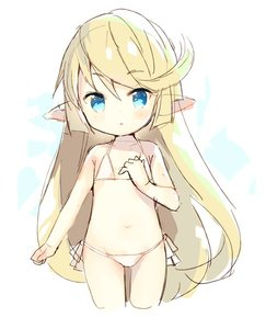 Rating: Safe Score: 5 Tags: 1girl :o bangs bare_arms bare_shoulders bikini blonde_hair blue_eyes blush charlotta_fenia collarbone cropped_legs eyebrows_visible_through_hair granblue_fantasy hair_between_eyes hand_up harvin long_hair meito parted_lips pointy_ears side-tie_bikini solo swimsuit very_long_hair white_bikini User: DMSchmidt