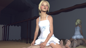 Rating: Explicit Score: 14 Tags: 1boy 1girl 3dcg age_difference ballerina barefoot blonde_hair blue_eyes cowgirl_position dress mirror photorealistic ponkoanims sarah_(the_last_of_us) sex studio the_last_of_us User: fantasy-lover