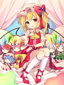 Rating: Safe Score: 0 Tags: 1girl :d apron ascot bangs bat_wings bed_sheet beret black_footwear black_vest blonde_hair blue_dress blue_hair blunt_bangs blush bow bowtie braid brooch center_frills character_doll crescent crescent_hair_ornament crystal curtains demon_wings detached_sleeves dress eyebrows_visible_through_hair fang flandre_scarlet frilled_apron frilled_shirt_collar frills green_bow green_hat green_neckwear green_skirt green_vest hair_between_eyes hair_bow hair_ornament hand_up hat hat_bow hat_ribbon head_wings headdress high_heels highres hong_meiling izayoi_sakuya jewellery kneehighs koakuma leg_garter long_hair looking_at_viewer maid_apron maid_headdress mary_janes mob_cap one_side_up open_mouth orange_hair patchouli_knowledge petticoat pillow pink_dress pink_hat puffy_short_sleeves puffy_sleeves purple_hair red_bow red_eyes red_footwear red_hair red_neckwear red_ribbon red_skirt red_vest remilia_scarlet ribbon ruhika shirt shoes short_hair short_sleeves silver_hair sitting skirt skirt_set smile solo star touhou_project twin_braids very_long_hair vest waist_apron white_apron white_hat white_legwear white_shirt wings wrist_cuffs yellow_bow User: DMSchmidt
