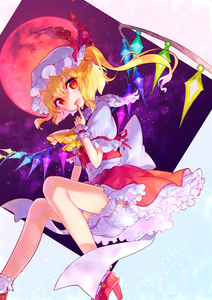 Rating: Safe Score: 0 Tags: 1girl :d absurdres ascot bangs bare_legs blonde_hair bloomers blush bobby_socks braid crystal eyebrows_visible_through_hair finger_to_mouth flandre_scarlet french_braid frilled_skirt frilled_sleeves frills from_below full_moon hat hat_ribbon high_heels highres hinasumire invisible_chair long_hair looking_at_viewer looking_down mob_cap moon one_side_up open_mouth puffy_short_sleeves puffy_sleeves red_eyes red_moon red_ribbon red_shoes red_skirt red_vest ribbon shirt shoes short_sleeves sitting skirt smile socks solo tareme touhou_project underwear upskirt vest white_legwear white_shirt wings wrist_cuffs yellow_ascot User: DMSchmidt