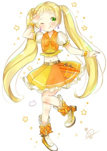 Rating: Safe Score: 1 Tags: 1girl ;p aikatsu! aikatsu!_(series) aikatsu_friends! belt blonde_hair blush boots bow earrings full_body hand_up hinata_ema jewellery long_hair looking_at_viewer megu_(littlestar) navel one_eye_closed orange_bow orange_shirt orange_skirt pose puffy_sleeves purple_earrings scrunchie shirt skirt solo tongue tongue_out twin_tails very_long_hair wrist_scrunchie User: DMSchmidt