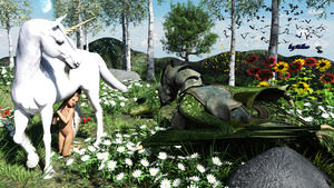 Rating: Explicit Score: 14 Tags: 1girl 3dcg absurdres bestiality blonde_hair blue_sky day flat_chest flower highres hollow_(pixiv35115449) hollow_3d horn kneeling navel nude original outdoors penis photorealistic plant pussy rape sunflower tree unicorn User: Domestic_Importer
