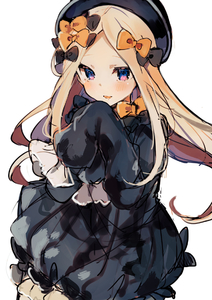 Rating: Safe Score: 1 Tags: 1girl abigail_williams_(fate/grand_order) bad_id bad_pixiv_id bangs black_bow black_dress black_hat blue_eyes blush bow dress fate/grand_order fate_(series) floating_hair hair_bow hand_up hat ikeuchi_tanuma long_hair long_sleeves orange_bow parted_bangs parted_lips sleeves_past_fingers sleeves_past_wrists smile solo very_long_hair User: DMSchmidt