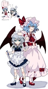 Rating: Safe Score: 0 Tags: 2girls :d anger_vein annoyed apron arm_on_head ascot bangs bat_wings black_bow black_footwear black_ribbon blue_dress bow braid brooch clenched_teeth determined dress dual_wielding eyebrows_visible_through_hair frilled_ascot frilled_shirt_collar frills full_body green_neckwear green_ribbon hair_between_eyes hair_ribbon hat hat_ribbon headdress high_heels highres himajinsan0401 holding holding_knife inset izayoi_sakuya jewellery kneehighs knife knives_between_fingers layered_clothing lecturing light_blue_hair looking_at_viewer maid maid_apron maid_headdress mary_janes mob_cap motion_lines multiple_girls multiple_views neck_ribbon open_mouth pink_hat pink_legwear pink_shirt pink_skirt puffy_short_sleeves puffy_sleeves red_eyes red_footwear red_neckwear remilia_scarlet reverse_grip ribbon shaded_face shadow shirt shoes short_hair short_sleeves silver_hair skirt smile socks sparkle standing sweatdrop teeth throwing_knife touhou_project translated twin_braids twitter_username waist_apron weapon white_apron white_background white_dress wings wrist_cuffs younger User: DMSchmidt
