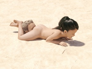 Rating: Explicit Score: 31 Tags: 1boy 1girl 3dcg animated ass black_hair cunnilingus dharwood femdom gif licking nude oral photorealistic ponytail restrained sand User: Slacker44