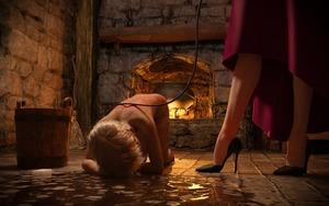 Rating: Explicit Score: 8 Tags: 2girls 3dcg flagen high_heels kneeling multiple_girls pain photorealistic punishment self_upload slave standing welts whipping User: Flagen