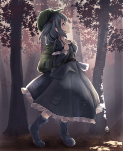 Rating: Safe Score: 0 Tags: 1girl backpack bag bangs belt belt_boots blue_eyes blue_footwear blue_hair blue_skirt boots breasts collared_shirt flat_cap frilled_shirt frills full_body hat highres kawashiro_nitori key leaf light_rays long_sleeves looking_up medium_hair petticoat pocket shirt skirt small_breasts smile solo sunbeam sunlight touhou_project tree two_side_up yukitourou User: DMSchmidt