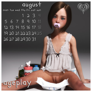 Rating: Questionable Score: 34 Tags: 1girl 2019 3dcg august blue_eyes brown_hair calendar clitoris diaper dress flat_chest highres lil-heart looking_at_viewer mons_veneris pacifier photorealistic pussy short_hair sitting solo spread_legs white_dress User: yobsolo