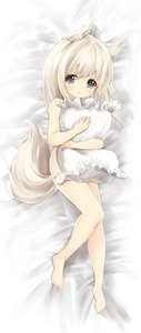 Rating: Questionable Score: 2 Tags: 1girl :o absurdres animal_ear_fluff animal_ears barefoot bed_sheet blush covering frilled_pillow frills full_body grey_eyes highres light_brown_hair long_hair looking_at_viewer lying maru_shion nude_cover original User: Domestic_Importer