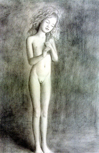Rating: Questionable Score: 8 Tags: 1girl brian_babinski closed_eyes flat_chest head_tilt holding_hair long_hair navel nipples nude pussy standing User: mythified
