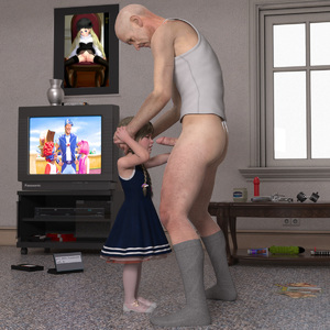 Rating: Explicit Score: 43 Tags: 1boy 1girl 3dcg age_difference braid dildo dress flat_chest garden_anachronique hand_on_another's_head imminent_fellatio imminent_rape ky_for_kids lazytown lube penis photorealistic pornography rachel rape sex_toy shoes socks sophiew_lolicon_3d standing television twin_braids uncle_and_niece vaseline weihpos User: fantasy-lover