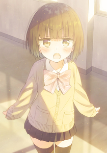 Rating: Safe Score: 0 Tags: 1girl angry black_legwear black_skirt blush bow bowtie brown_eyes brown_hair cardigan floor hallway light_rays original outstretched_arm pleated_skirt red_bow red_neckwear school school_uniform short_hair skirt solo spread_arms standing sunbeam sunlight thighhighs tsuke_(maholabo) wall window window_shade yellow_cardigan zettai_ryouiki User: DMSchmidt