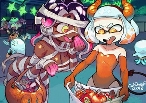 Rating: Safe Score: 5 Tags: 2018 4girls absurdres artist_name bag bandages bare_shoulders breasts brown_skin candy cephalopod_eyes colo_(nagrolaz) cowtits demon_girl demon_horns demon_tail elbow_gloves fake_horns fake_tail flat_chest food ghost_costume gloves halloween halloween_costume highres hime_(splatoon) hockey_mask horns huge_filesize iida_(splatoon) inkling jack-o'-lantern jellyfish_(splatoon) jiangshi large_breasts leotard medium_hair multicoloured_hair multiple_girls mummy_costume naked_bandage octoling ofuda open_mouth orange_gloves orange_leotard purple_hair running short_hair silver_hair smile splatoon_(series) splatoon_2 strapless strapless_leotard tail tentacle_hair tongue tongue_out two-tone_hair yellow_eyes User: DMSchmidt