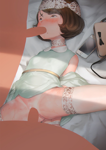 Rating: Explicit Score: 5 Tags: 1girl 2boys bag blush breasts brown_hair censored credit_card dress fellatio hideousbeing highres iphone lying mole mole_under_mouth multiple_boys multiple_penises nopan nose_blush on_back oral original penis pubic_hair saliva short_hair small_breasts thighhighs white_legwear User: Domestic_Importer