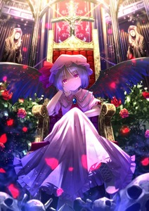 Rating: Safe Score: 0 Tags: 1girl arm_support ascot bat_wings bone brooch chain church cross dress flower hat hat_ribbon jewellery looking_at_viewer pink_dress puffy_sleeves purple_eyes purple_hair red_rose remilia_scarlet ribbon rose ryosios short_hair short_sleeves sitting skull smile solo statue team_shanghai_alice throne touhou_project vampire wings User: DMSchmidt