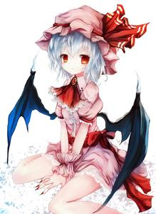 Rating: Safe Score: 0 Tags: 1girl basilis9 bat_wings blue_hair brooch fingernails hat highres jewellery red_eyes remilia_scarlet ribbon short_hair sitting solo touhou_project wariza wings User: DMSchmidt