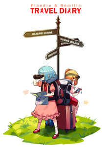 Rating: Safe Score: 0 Tags: 2girls ascot backpack bag binoculars blue_hair brooch bug butterfly cellphone character_name dress eyewear_on_head flandre_scarlet full_body grass hand_up highres holding holding_binoculars holding_map holding_phone insect jewellery kneehighs lock long_hair map mary_janes multiple_girls no_hat no_headwear phone pink_dress pointy_ears puffy_short_sleeves puffy_sleeves red_footwear red_neckwear red_skirt red_vest remilia_scarlet ribbon-trimmed_dress ribbon_trim rolling_suitcase shadow shirt shoes short_hair short_sleeves siblings side_ponytail simple_background sisters sitting skirt skirt_set smartphone standing sunglasses touhou_project vest white_background white_legwear white_shirt yoruny User: DMSchmidt