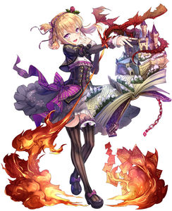 Rating: Safe Score: 0 Tags: 1girl asymmetrical_hair blonde_hair book bow braid breathing_fire castle chair corset dragon dress fantasy fire floral_print flower full_body hair_flower hair_ornament hairband highres kanipanda long_sleeves looking_at_viewer mary_janes open_book open_mouth original outstretched_arm pages purple_bow purple_dress purple_eyes purple_shoes scales shoe_bow shoes solo striped striped_legwear tagme thighhighs v white_background User: DMSchmidt