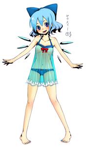 Rating: Questionable Score: 1 Tags: (9) 1girl barefoot blue_hair cirno feet flat_chest lingerie mame_usagi nail_polish ribbon see-through short_hair solo team_shanghai_alice toenail_polish touhou_project underwear wings ⑨ User: DMSchmidt