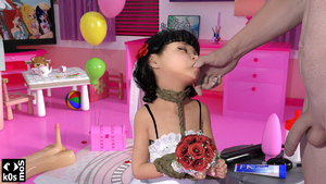 Rating: Explicit Score: 34 Tags: 1boy 1girl 3dcg age_difference bangs bdsm black_hair blunt_bangs bondage bound butt_plug closed_eyes dildo finger_in_another's_mouth fk_lube flat_chest flower k0smos lube penis photorealistic sex_toy sex_toys shadow standing testicles thumb_sucking vanessa_(k0s) User: Pieman