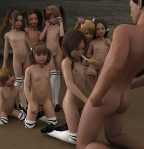 Rating: Explicit Score: 47 Tags: 1boy 3dcg after_fellatio age_difference bangs beach blunt_bangs choker cum cumdrip flat_chest holding_penis kneeling multiple_girls navel nipples ocean penis penis_awe photorealistic pomf_(3d_artist) pussy smile striped_legwear thighhighs twintials User: fantasy-lover
