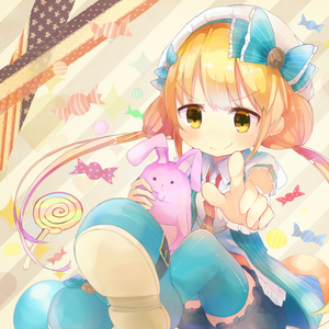 Rating: Safe Score: 0 Tags: ) 10s 1girl blonde_hair bloomers blue_legwear bow candy futaba_anzu hat hat_bow idolmaster idolmaster_cinderella_girls lollipop loose_necktie necktie no_pants open_clothes open_vest pointing pointing_at_viewer puffy_short_sleeves puffy_sleeves rowta rowtan shirt short_sleeves sitting smile solo stuffed_animal stuffed_bunny stuffed_toy thighhighs twin_tails underwear vest yellow_eyes User: DMSchmidt