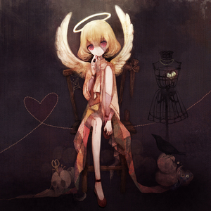 Rating: Safe Score: 3 Tags: 1girl angel angel_wings bad_id bird blonde_hair brown_eyes crow dress halo heart heart_of_string original patches pechika red_eyes scar short_hair sitting skull solo sorafia stitches wings zombie User: ShizKoE2