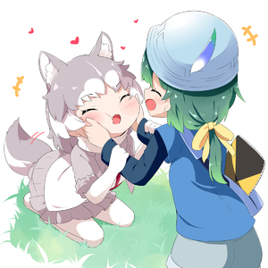 Rating: Safe Score: 0 Tags: +++ 2girls :d ^_^ animal_ears bag bangs blue_headwear blue_shirt blue_shorts blush bow cheek_squash closed_eyes dog_(mixed_breed)_(kemono_friends) dog_ears dog_girl dog_tail elbow_gloves eyebrows_visible_through_hair fur-trimmed_sleeves fur_trim gloves green_hair grey_hair grey_skirt hair_bow heart helmet highres kemono_friends kyururu_(kemono_friends) long_hair long_sleeves makuran multicoloured_hair multiple_girls no_shoes open_mouth pantyhose pleated_skirt seiza shirt short_over_long_sleeves short_shorts short_sleeves shorts shoulder_bag sitting skirt smile tail tail_wagging two-tone_hair white_gloves white_hair white_legwear white_shirt yellow_bow User: Domestic_Importer