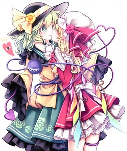 Rating: Safe Score: 0 Tags: 2girls :3 black_hat blonde_hair bow closed_eyes eyelashes flandre_scarlet floral_print flower frilled_skirt frills green_eyes green_hair green_skirt hat hat_bow hat_flower hat_ribbon heart heart-shaped_pupils heart_of_string hug kiss komeiji_koishi miy_001 mob_cap multiple_girls petticoat pink_skirt red_ribbon red_rose ribbon rose shirt simple_background skirt skirt_set sleeves_past_wrists symbol-shaped_pupils third_eye touhou_project white_background white_hat wings yellow_bow yellow_rose yellow_shirt yuri User: DMSchmidt